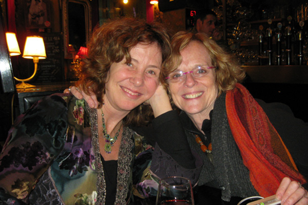 Deb with theater artist and healer Joan MacIntosh, Paris