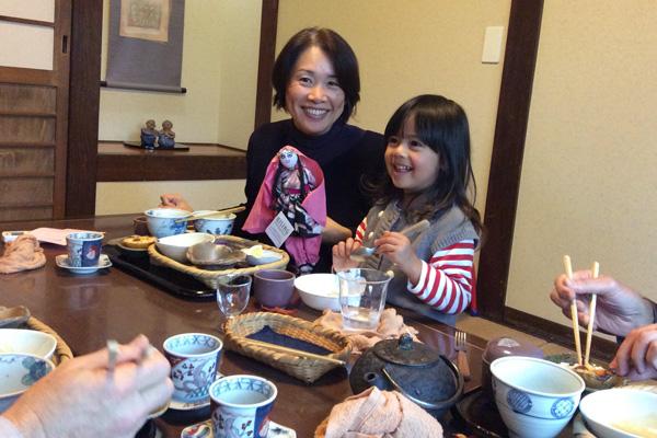 Adjunct faculty, Miyuki Yamamoto with Maya